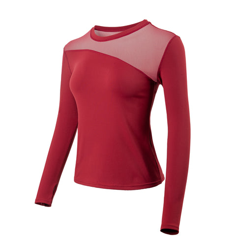 Mesh Panel Long Sleeve Gym Top