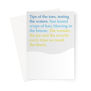 Tips of the toes Poem | Greetings Card