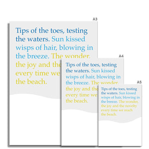 Tips of toes Poem |  Fine Art Print