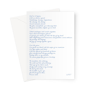 Love Poem | White Greetings Card
