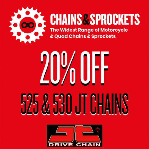 20% OFF 525 & 530 JT Chains at Chains & Sprockets!