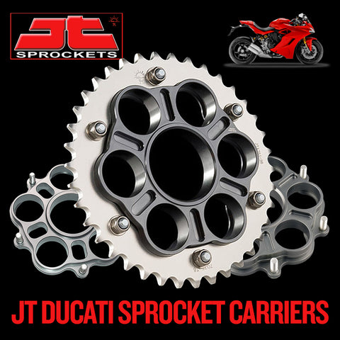 Back in Stock! JT Alloy Rear Ducati Sprocket Carriers