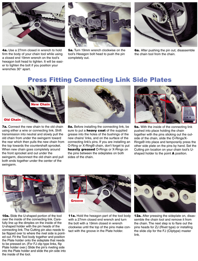 DID Chain fitment instructions page 2
