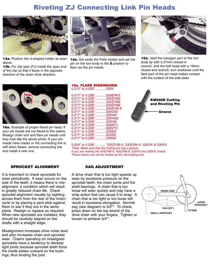 DID Chain fitment instructions page 3