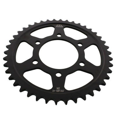 JTR1489 Black Edition Induction Hardened ZBK Motorcycle Sprocket 42 Teeth (JTR 1489.42)