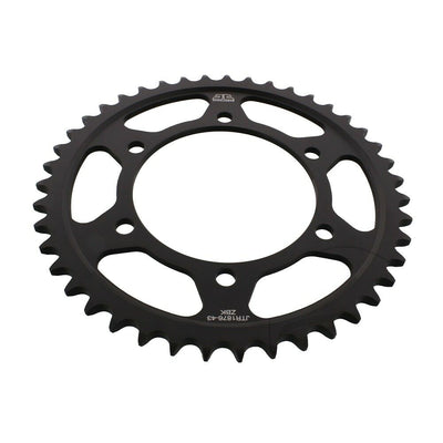 JTR1876 Black Edition Induction Hardened ZBK Motorcycle Sprocket 43 Teeth (JTR 1876.43)