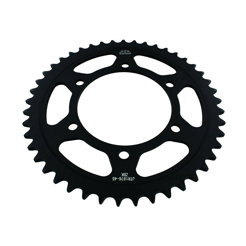 Yamaha MT09 / YZFR6 JTR1876 Black Edition Induction Hardened ZBK Motorcycle Sprocket 45 Teeth (JTR 1876.45)