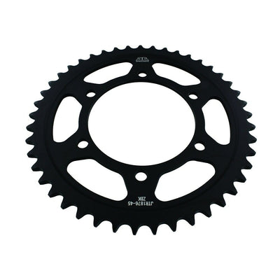 JTR1876 Black Edition Induction Hardened ZBK Motorcycle Sprocket 45 Teeth (JTR 1876.45)