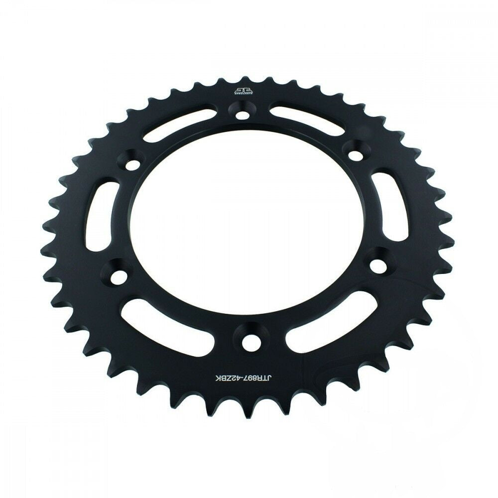 JTR897 Black Edition Induction Hardened ZBK Motorcycle Sprocket 42 Teeth (JTR 897.42)