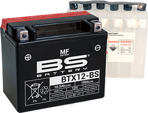 BS Maintenance Free BTX12-BS Battery with Acid Pack