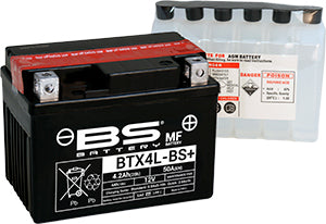 BS Maintenance Free BTX4L-BS Battery with Acid Pack