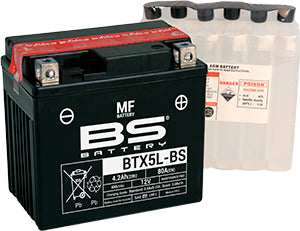 BS Maintenance Free BTX5L-BS Battery with Acid Pack