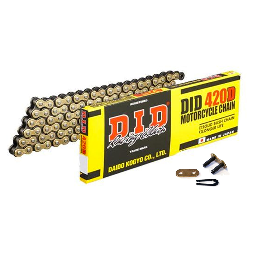 DID Gold Motorcycle Chain Standard 420 DGB 102 (RJ)