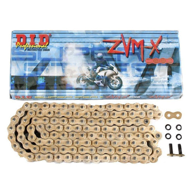 Suzuki DL1000 2014-2018 / GSXR1000 2017-2018 DID 525 ZVMX Gold 120 Link X-Ring Super Heavy Duty Motorcycle Chain