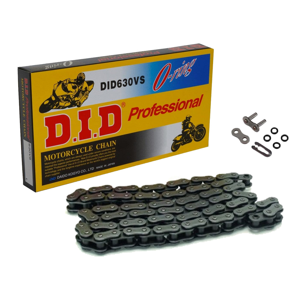 DID 630 V Black 98 Link O-Ring Heavy Duty Motorcycle Chain
