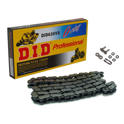 DID 630 V Steel 96 Link O-Ring Heavy Duty Motorcycle Chain