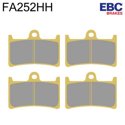 EBC HH Sintered Front Brake Pads FA252HH (Two Calipers)