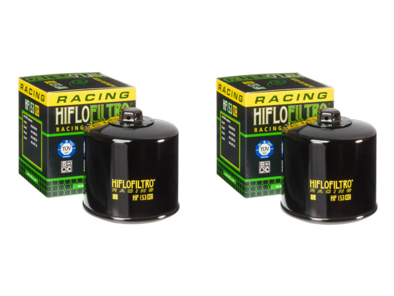 Pair of Hiflo Filtro HF153RC High Performance Racing Oil Filters