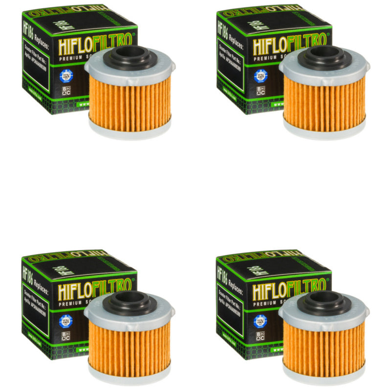 Bundle of 4 Hiflo Filtro HF186 Premium Oil Filters