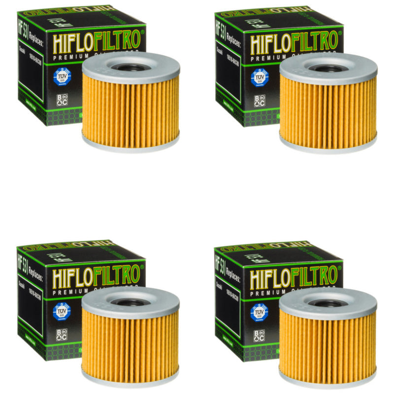 Bundle of 4 Hiflo Filtro HF531 Premium Oil Filters