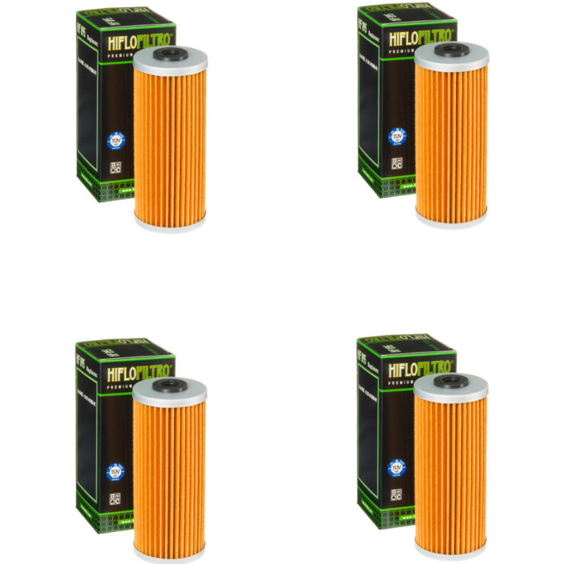 Bundle of 4 Hiflo Filtro HF895 Premium Oil Filters