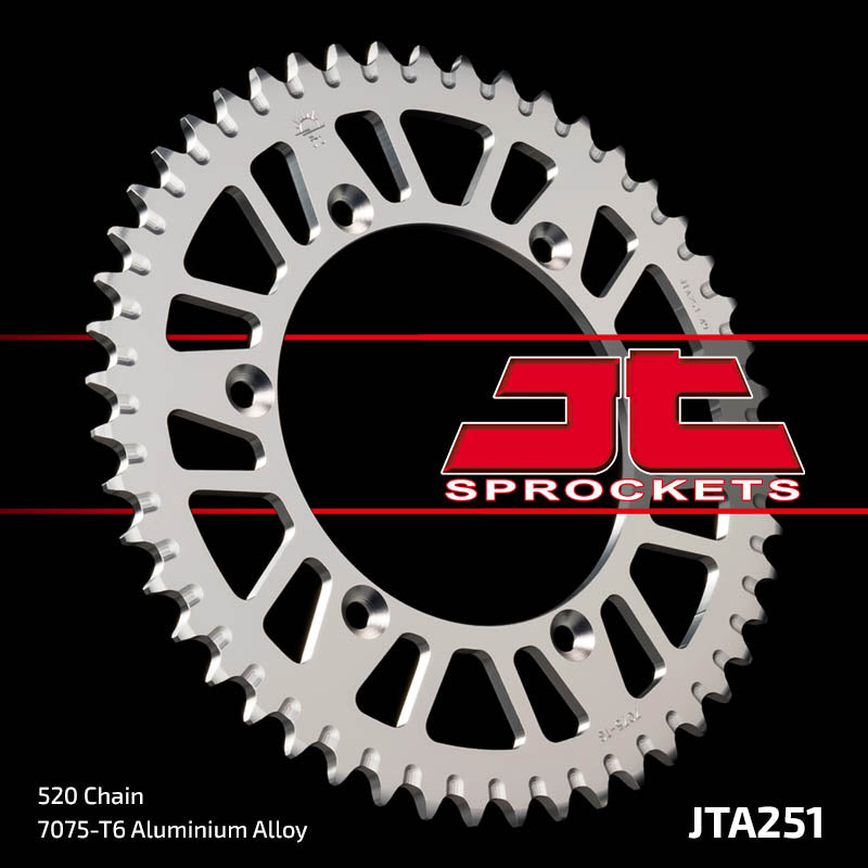 JTA251 Rear Alloy Drive Motorcycle Sprocket 51 Teeth (JTA 251.51)