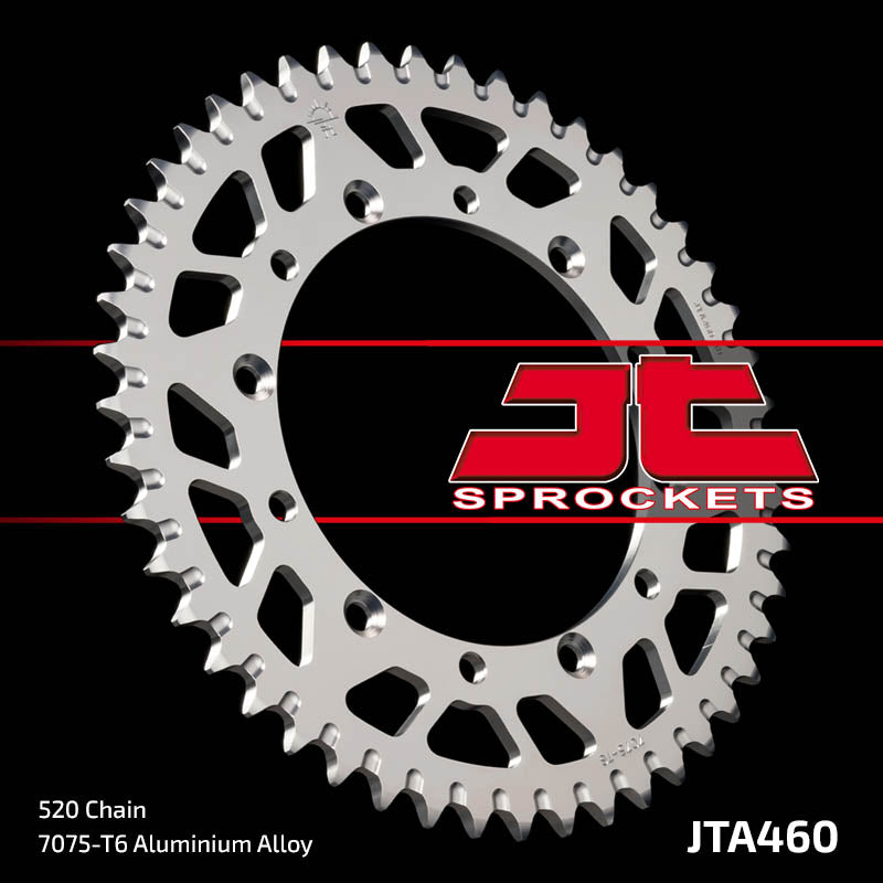 JTA460 Rear Alloy Drive Motorcycle Sprocket 52 Teeth (JTA 460.52)