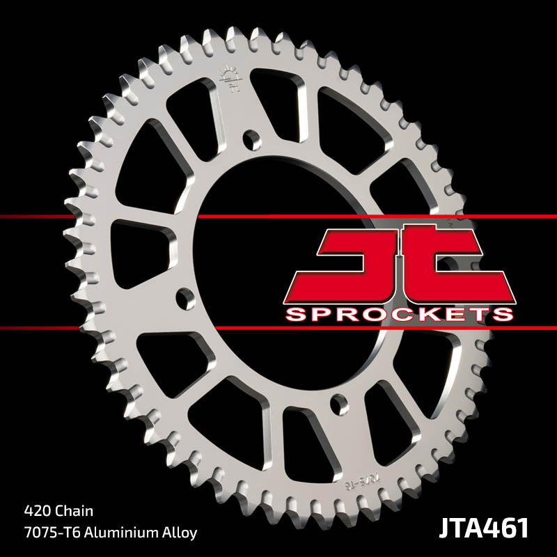 JTA461 Rear Alloy Drive Motorcycle Sprocket 52 Teeth (JTA 461.52)