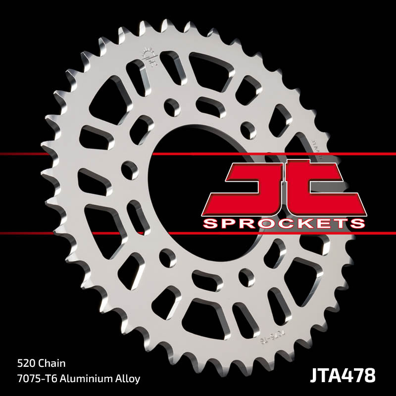 JTA478 Rear Alloy Drive Motorcycle Sprocket 47 Teeth (JTA 478.47)