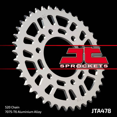 JTA478 Rear Alloy Drive Motorcycle Sprocket 46 Teeth (JTA 478.46)