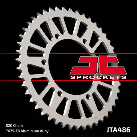 JTA486 Rear Alloy Drive Motorcycle Sprocket 44 Teeth (JTA 486.44)