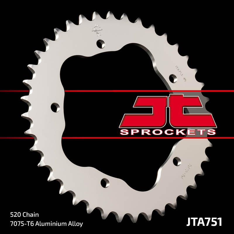 JTA751 Rear Alloy Drive Motorcycle Sprocket 44 Teeth (JTA 751.44)