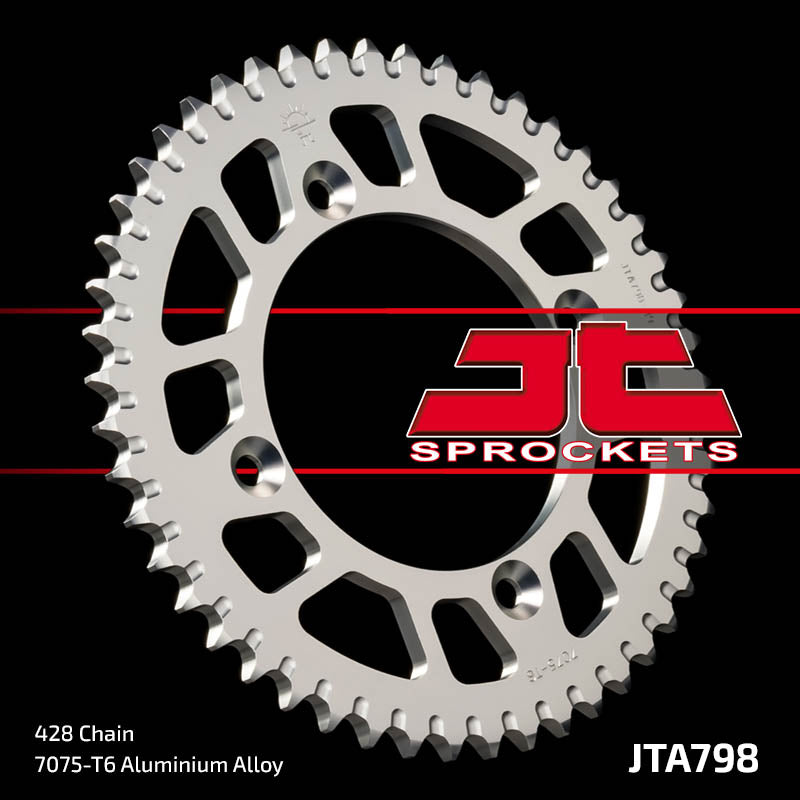 JTA798 Rear Alloy Drive Motorcycle Sprocket 50 Teeth (JTA 798.50)