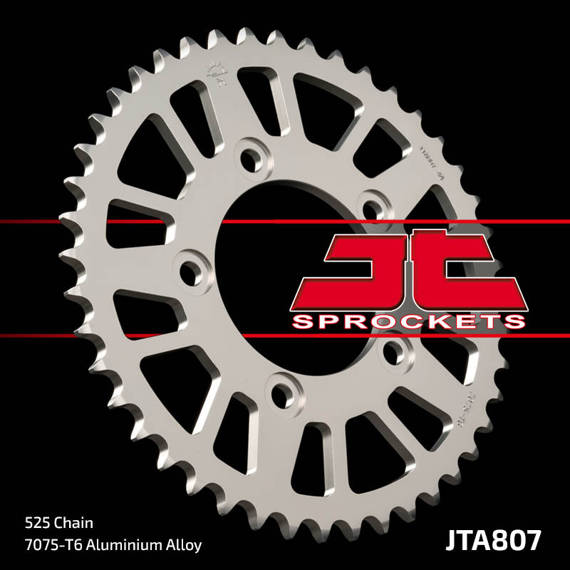 JTA807 Rear Alloy Drive Motorcycle Sprocket 44 Teeth (JTA 807.44)