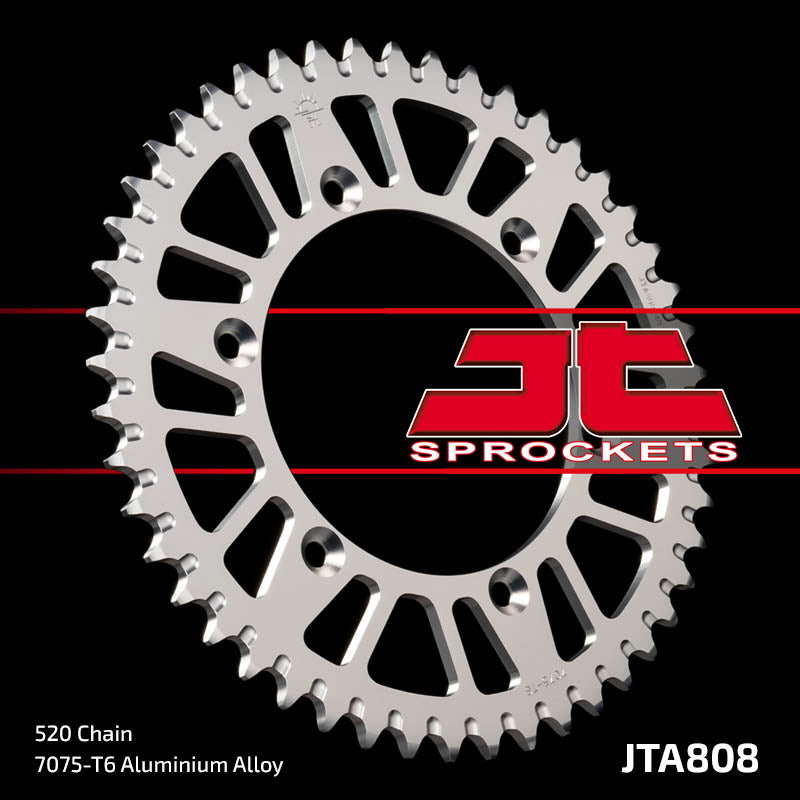JTA808 Rear Alloy Drive Motorcycle Sprocket 48 Teeth (JTA 808.48)