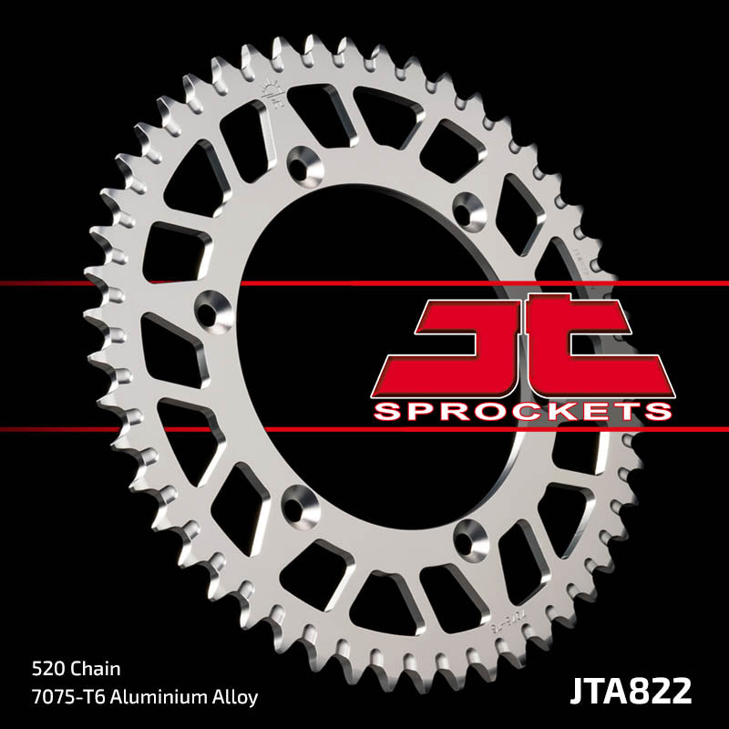 JTA822 Rear Alloy Drive Motorcycle Sprocket 50 Teeth (JTA 822.50)