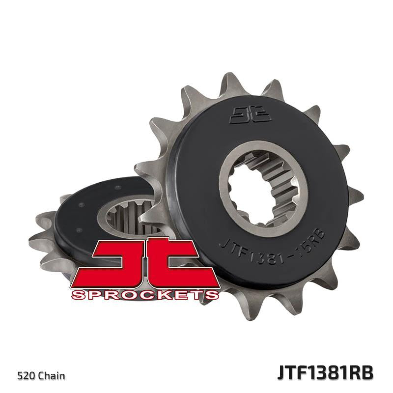JTF1381 Rubber Cushioned Front Drive Motorcycle Sprocket 15 Teeth (JTF 1381.15 RB)