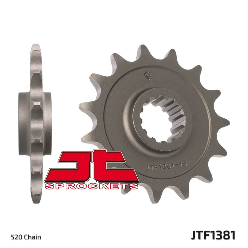 JTF1381 Front Drive Motorcycle Sprocket 15 Teeth (JTF 1381.15)