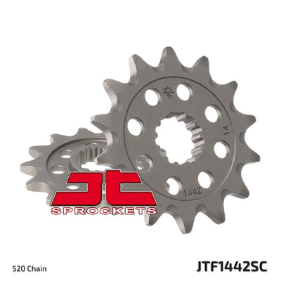 JTF1442 Front Drive Motorcycle Sprocket Self Cleaning 14 Teeth (JTF 1442.14)