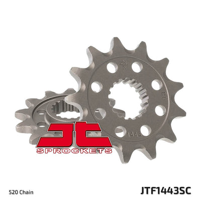 JTF1443 Front Drive Motorcycle Sprocket Self Cleaning 13 Teeth (JTF 1443.13)