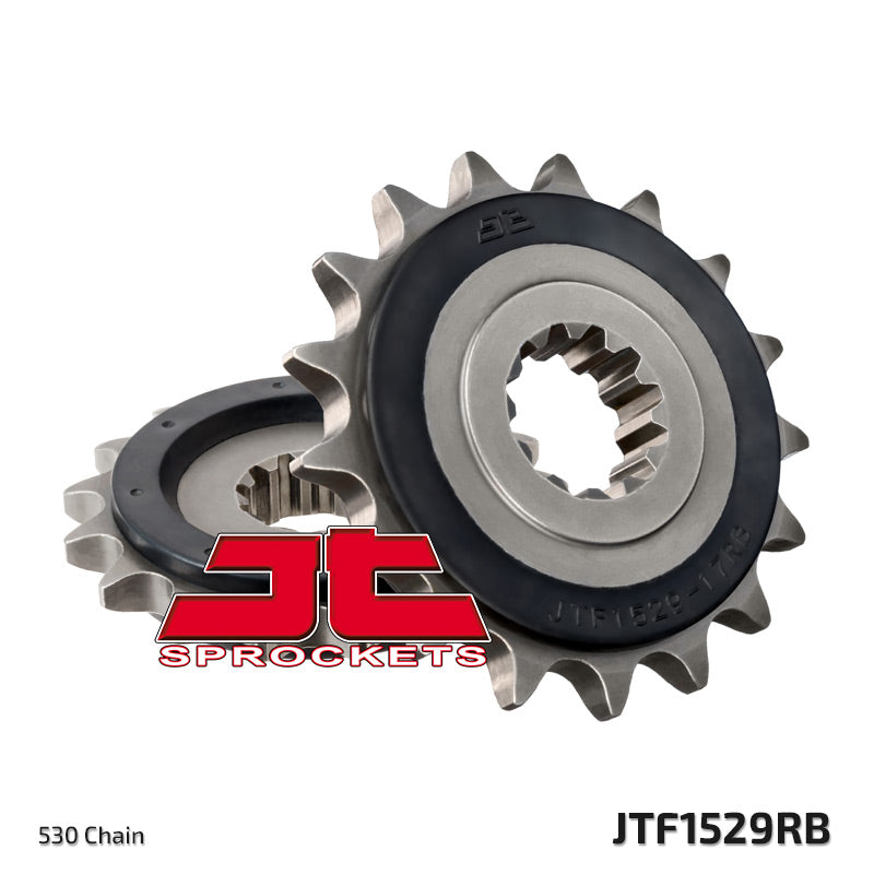 Kawasaki ZRX1200 2001-2008 JTF1529 Rubber Cushioned Front Drive Motorcycle Sprocket 17 Teeth (JTF 1529.17RB)