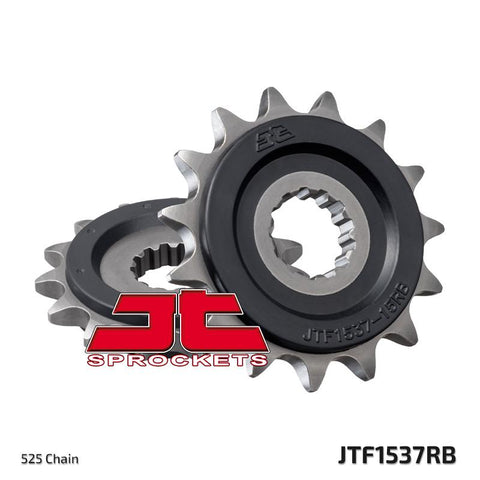 JTF1537 Rubber Cushioned Front Drive Motorcycle Sprocket 15 Teeth (JTF 1537.15 RB)
