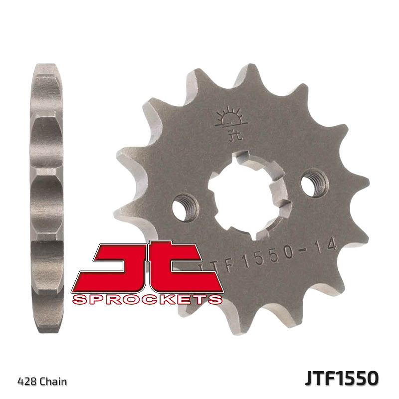 JTF1550 Front Drive Motorcycle Sprocket 14 Teeth (JTF 1550.14)
