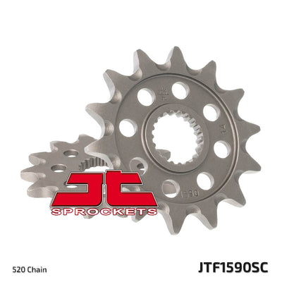JTF1590 Front Drive Motorcycle Sprocket Self Cleaning 14 Teeth (JTF 1590.14)