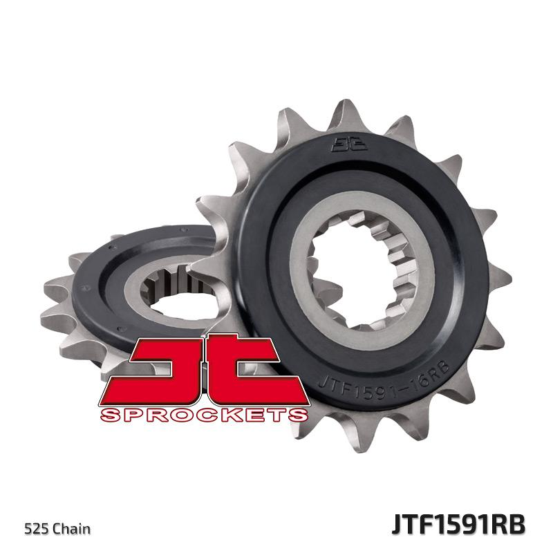 JTF1591 Rubber Cushioned Front Drive Motorcycle Sprocket 16 Teeth (JTF 1591.16 RB)