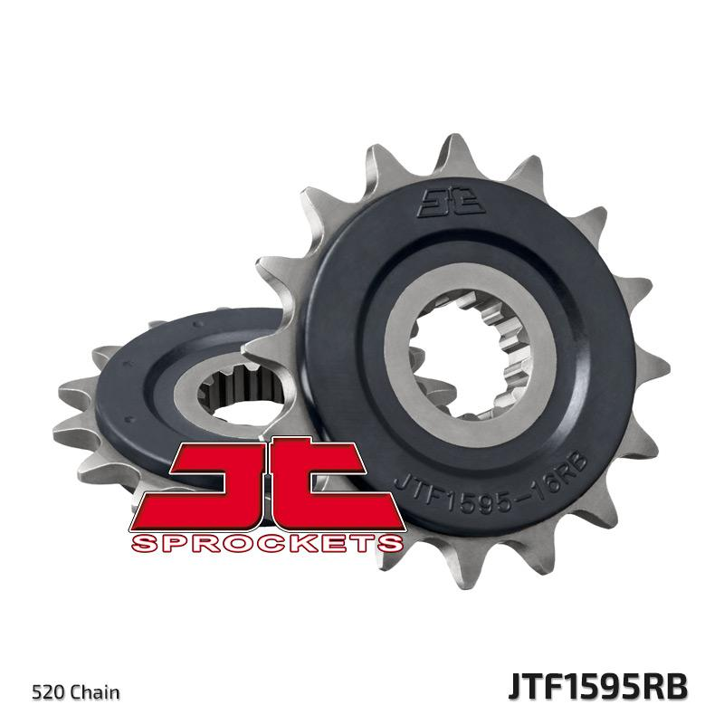 JTF1595 Rubber Cushioned Front Drive Motorcycle Sprocket 16 Teeth (JTF 1595.16 RB)