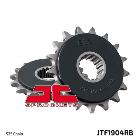 JTF1904 Rubber Cushioned Front Drive Motorcycle Sprocket 17 Teeth (JTF 1904.17 RB)