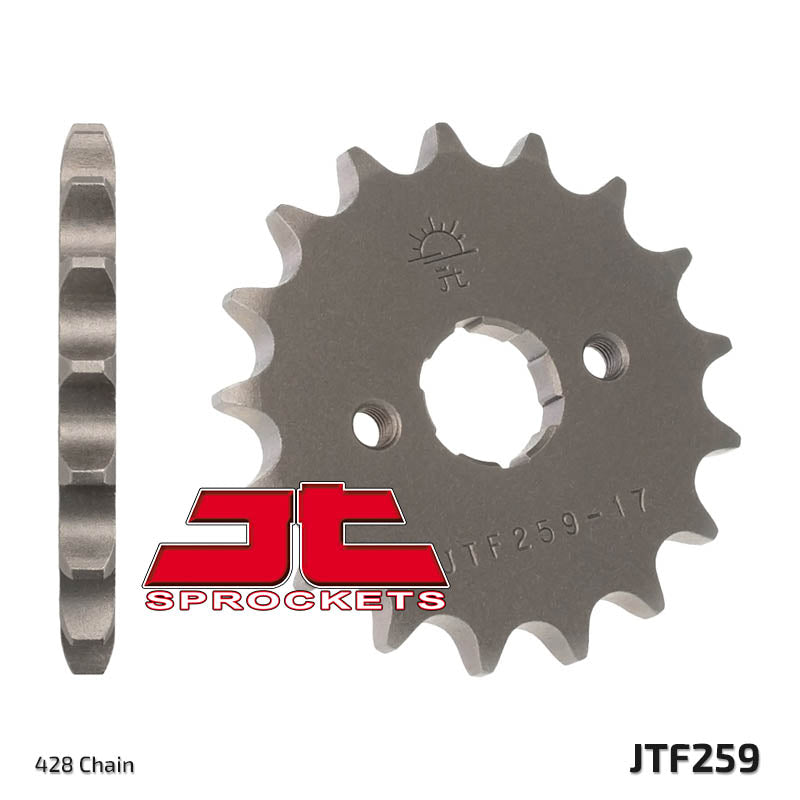 Front Motorcycle Sprocket for Honda_NX125 Transcity_89-98, Honda_NX125_89-90, Honda_XL125 J_88, Kymco_50 KXR_04-07, Kymco_90 KXR_05-07, Kymco_90 Maxxer_05-07