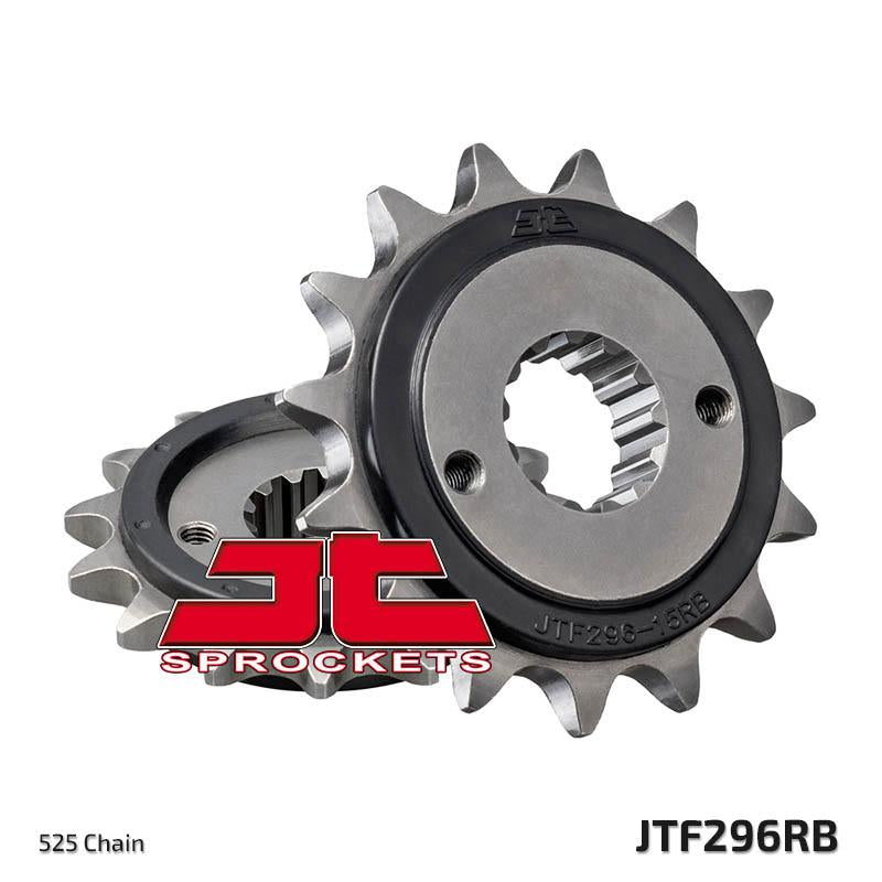 JTF296 Rubber Cushioned Front Drive Motorcycle Sprocket 15 Teeth (JTF 296.15 RB)