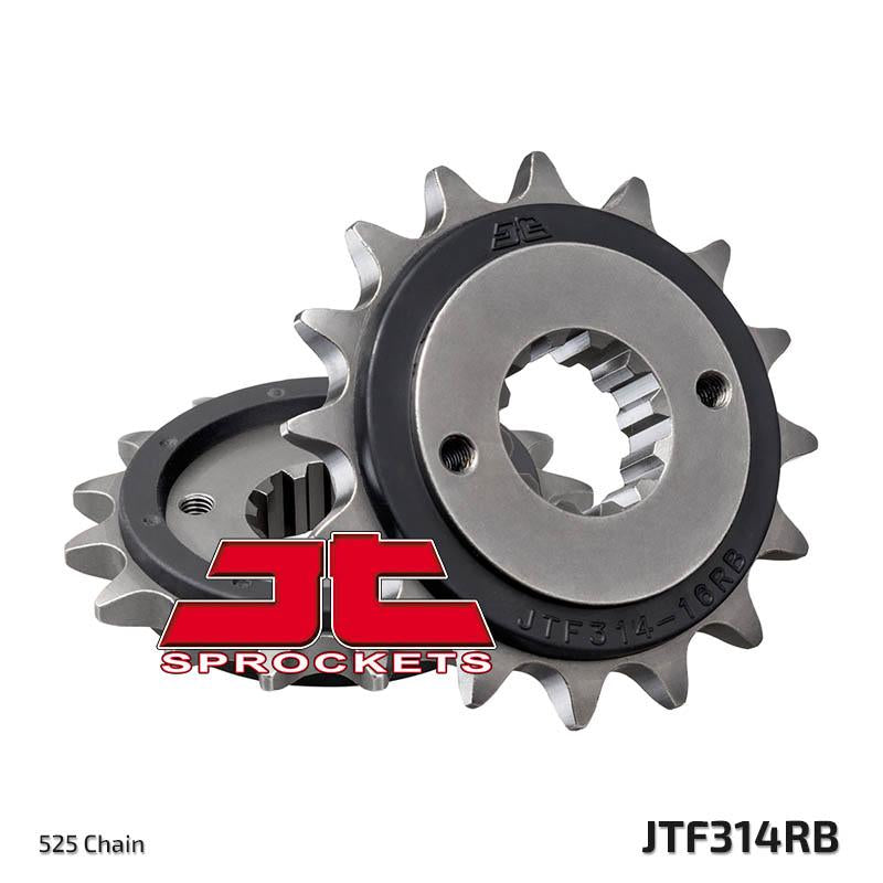 JTF314 Rubber Cushioned Front Drive Motorcycle Sprocket 16 Teeth (JTF 314.16 RB)